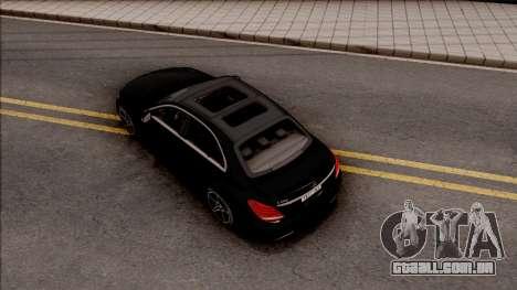 Mercedes-Benz C250 AMG Line v2 para GTA San Andreas vista traseira