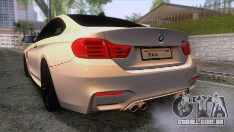 BMW M4 GTS High Quality para GTA San Andreas vista inferior