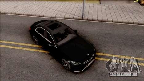 Mercedes-Benz C250 AMG Line v2 para GTA San Andreas vista direita