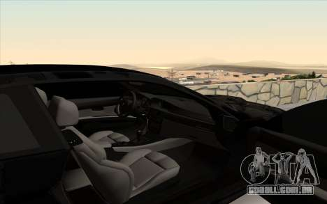 BMW M3 E92 GTR Black Camo para GTA San Andreas vista interior