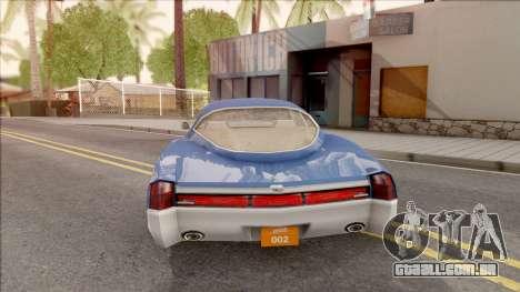 Driver PL Cerva para GTA San Andreas traseira esquerda vista