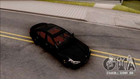BMW M5 F10 Nighthawk para GTA San Andreas vista direita