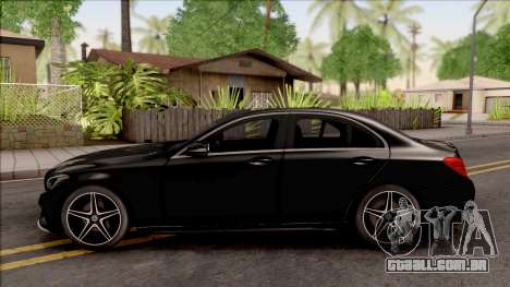 Mercedes-Benz C250 AMG Line v2 para GTA San Andreas esquerda vista