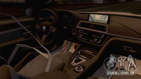 BMW M4 GTS High Quality para GTA San Andreas vista interior