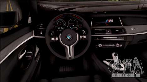 BMW M5 F10 M Performance para GTA San Andreas vista interior