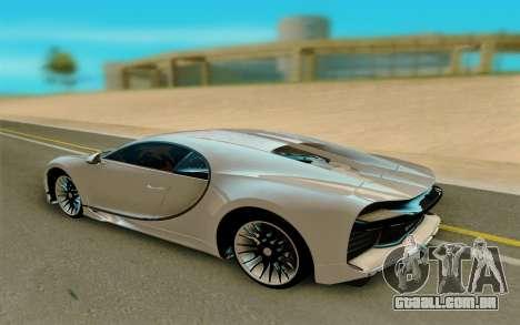 Bugatti Chiron para GTA San Andreas vista direita