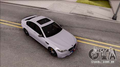 BMW M5 F10 M Performance para GTA San Andreas vista direita
