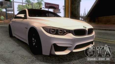 BMW M4 GTS High Quality para GTA San Andreas traseira esquerda vista