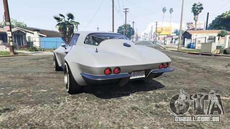 GTA 5 Chevrolet Corvette Sting Ray (C2) [replace] traseira vista lateral esquerda