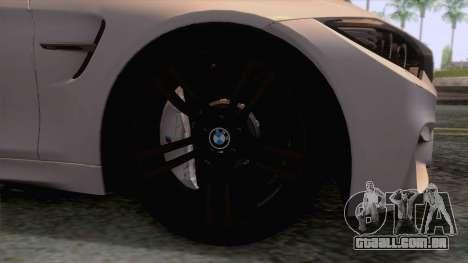 BMW M4 GTS High Quality para GTA San Andreas vista traseira