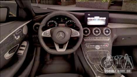 Mercedes-Benz C250 AMG Line v2 para GTA San Andreas vista interior