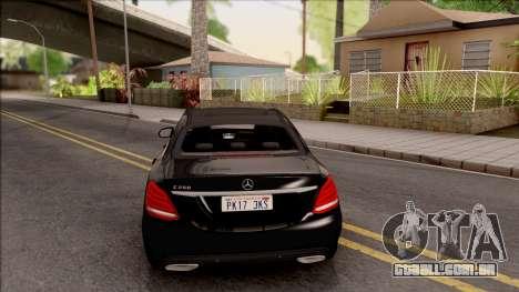 Mercedes-Benz C250 AMG Line v2 para GTA San Andreas traseira esquerda vista
