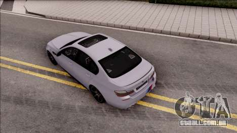 BMW M5 F10 M Performance para GTA San Andreas vista traseira