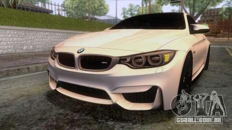 BMW M4 GTS High Quality para GTA San Andreas vista superior