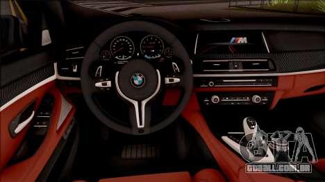 BMW M5 F10 Nighthawk para GTA San Andreas vista interior
