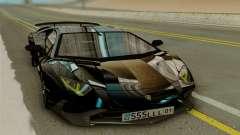 Lamborghini Aventador SV 2015 чёрный para GTA San Andreas