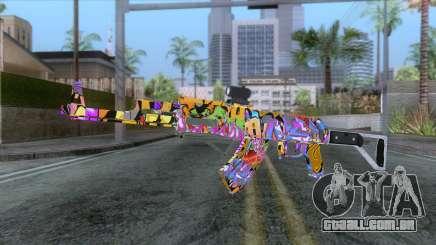 CoD: Black Ops II - AK-47 Graffiti Skin v1 para GTA San Andreas