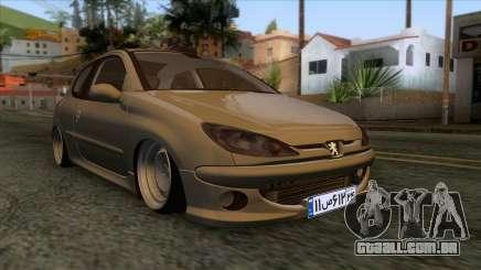 Peugeot 206 Full Sport Edit para GTA San Andreas