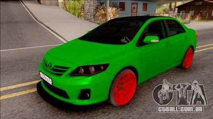 Toyota Corolla Green Edition para GTA San Andreas