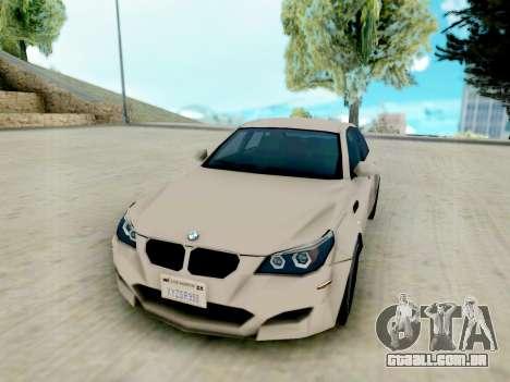 BMW M5 E60 Lumma Edition para GTA San Andreas vista traseira