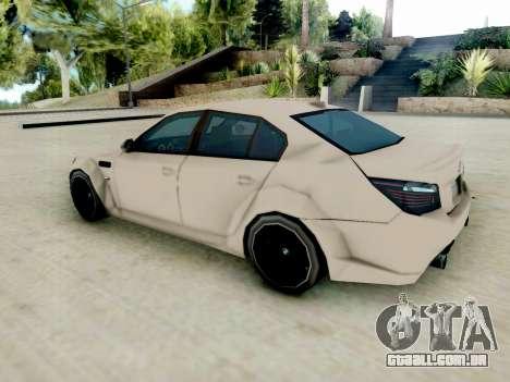 BMW M5 E60 Lumma Edition para GTA San Andreas traseira esquerda vista