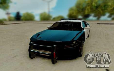 Dodge Charger SRT8 Hellcat 2015 para GTA San Andreas vista traseira