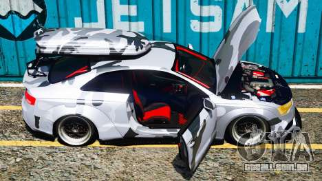GTA 5 Audi RS5 Libertywalk vista lateral esquerda