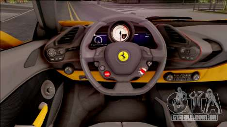 Ferrari 488 Spider 2016 para GTA San Andreas vista interior