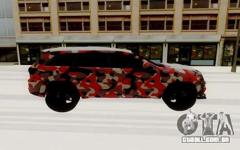 Jeep Cherokee SRT para GTA San Andreas traseira esquerda vista