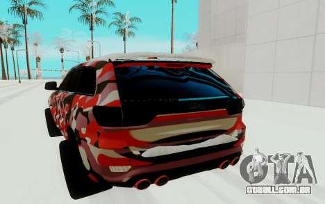 Jeep Cherokee SRT para GTA San Andreas vista traseira
