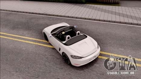 Porsche Boxter S 2017 para GTA San Andreas vista traseira