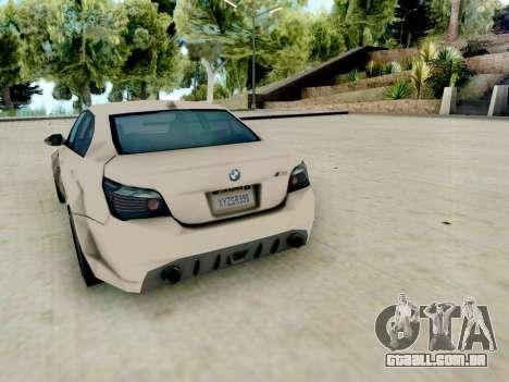 BMW M5 E60 Lumma Edition para GTA San Andreas vista direita