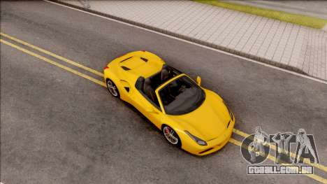 Ferrari 488 Spider 2016 para GTA San Andreas vista direita