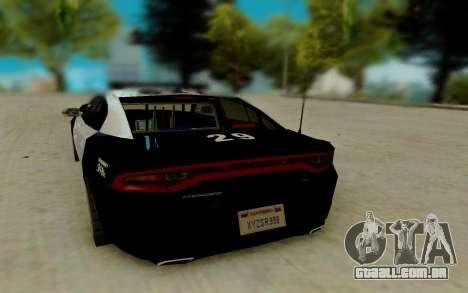 Dodge Charger SRT8 Hellcat 2015 para GTA San Andreas traseira esquerda vista