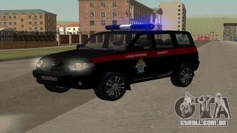 UAZ Patriota (Restyling ii) o Comitê de Investig para GTA San Andreas