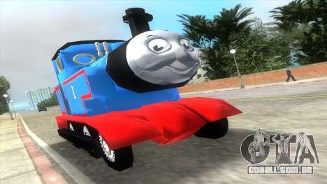 Thomas The Train para GTA Vice City vista traseira esquerda
