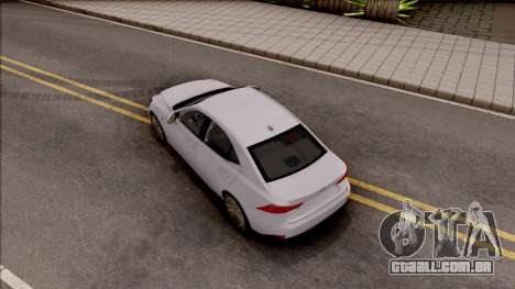 Lexus IS XE30 200t F Sport 2017 para GTA San Andreas