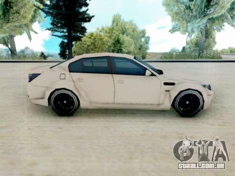 BMW M5 E60 Lumma Edition para GTA San Andreas esquerda vista