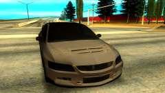 Mitsubishi Lancer Evolution 8 de prata para GTA San Andreas