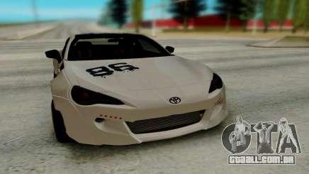Toyota GT86 TRD para GTA San Andreas