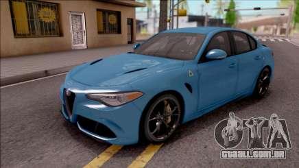 Alfa Romeo Giulia Quadrifoglio 2017 para GTA San Andreas