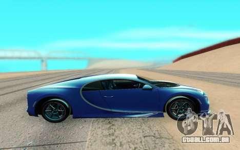 Bugatti Chiron para GTA San Andreas esquerda vista