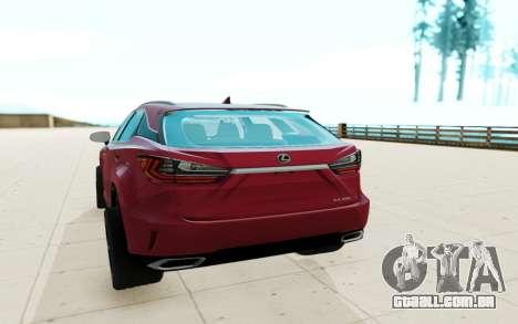 Lexus RX350 para GTA San Andreas