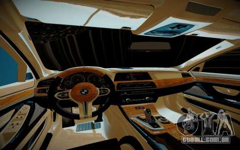 BMW M5 F10 para GTA San Andreas vista interior