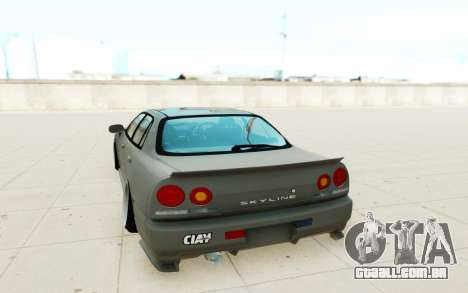 Nissan Skyline R34 para GTA San Andreas vista direita
