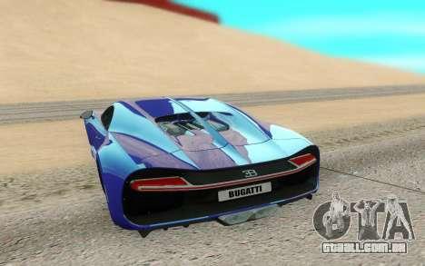 Bugatti Chiron para GTA San Andreas vista traseira