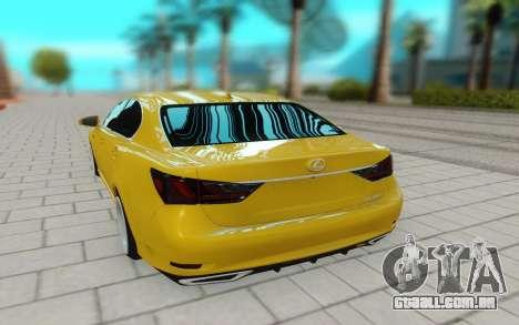 Lexus GS 350F para GTA San Andreas
