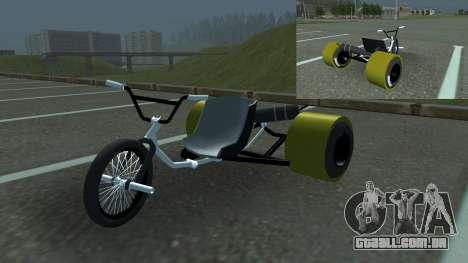 Drift Trike para GTA San Andreas traseira esquerda vista