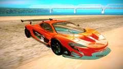 McLaren P1 GTR preto para GTA San Andreas