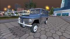 Jeep Rural Willys 1961 - Versão Brasileira para GTA San Andreas